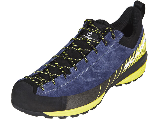 Scarpa Mescalito Chaussures Homme, blue cosmo/lime fluo